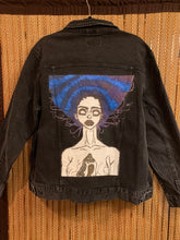 Load image into Gallery viewer, Black Denim Artwear Jacket - Revealed
