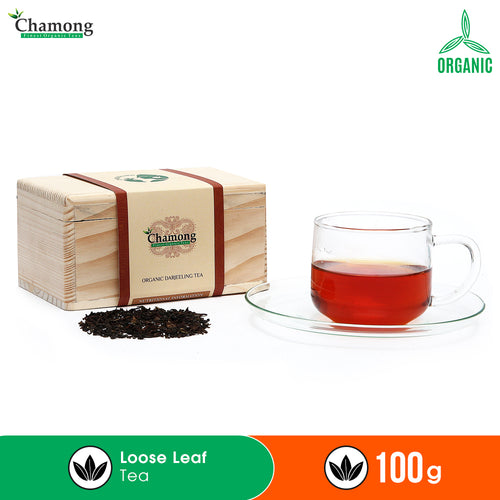 Premium Darjeeling Loose Leaf Tea in Pinewood Chestlet 100g