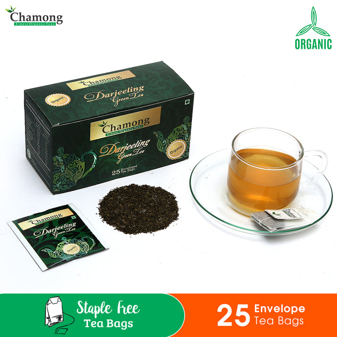 Green Envelope Tea Bags - 25