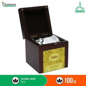 Premium Darjeeling Tea in Walnut Finish Wooden Box