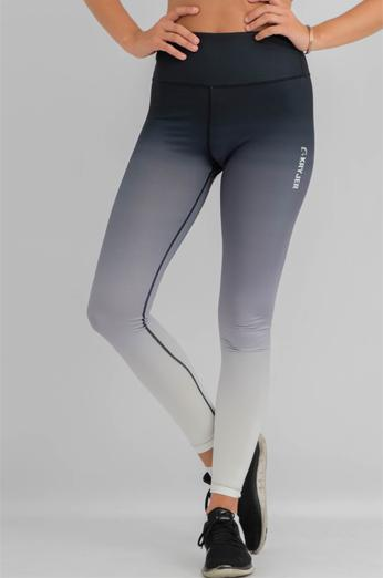 Womens Faded Leggings Black/White