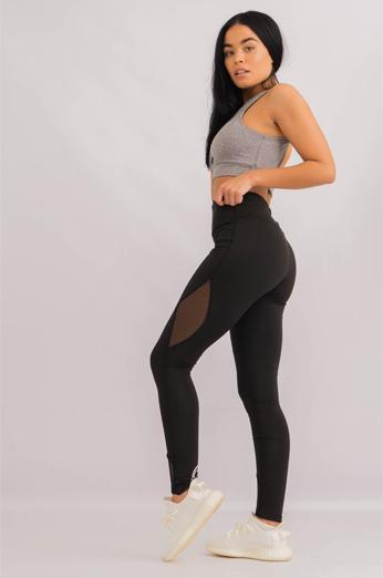 Womens Leggings Lace Black