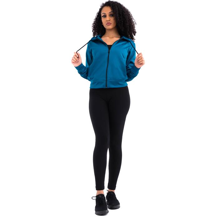 Womens Zip-Up Hoodie Blue