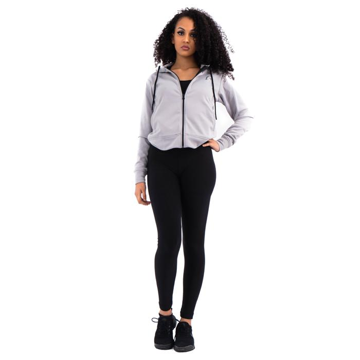 Womens Zip-Up Hoodie Grey