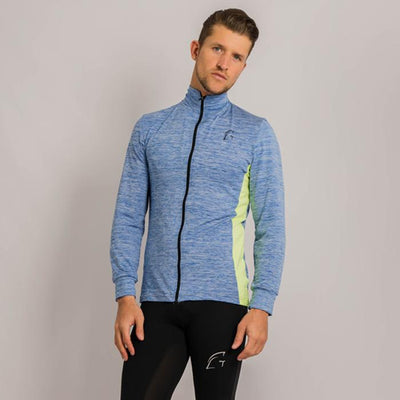 Kryjer 2 Tone Track Top Light Blue/Yellow