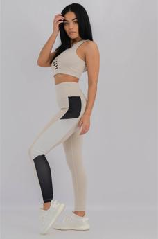 Womens Metro Leggings Beige