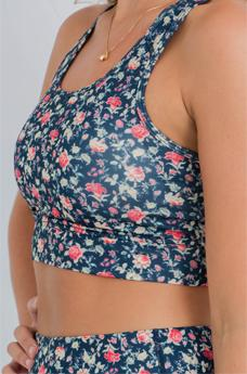 Womens Sports Bra Fusion Floral