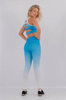 Womens Faded Leggings Blue/White