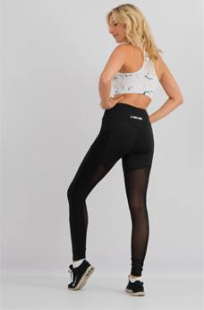 Womens Mesh Flow Leggings Black