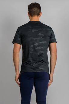 Male Camo Top Dark Grey