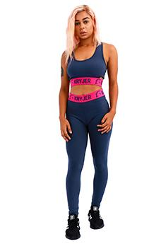 Womens Legacy Sports Bra Grey/Pink