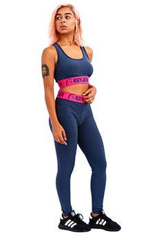 Womens Legacy Legging Grey/Hot Pink