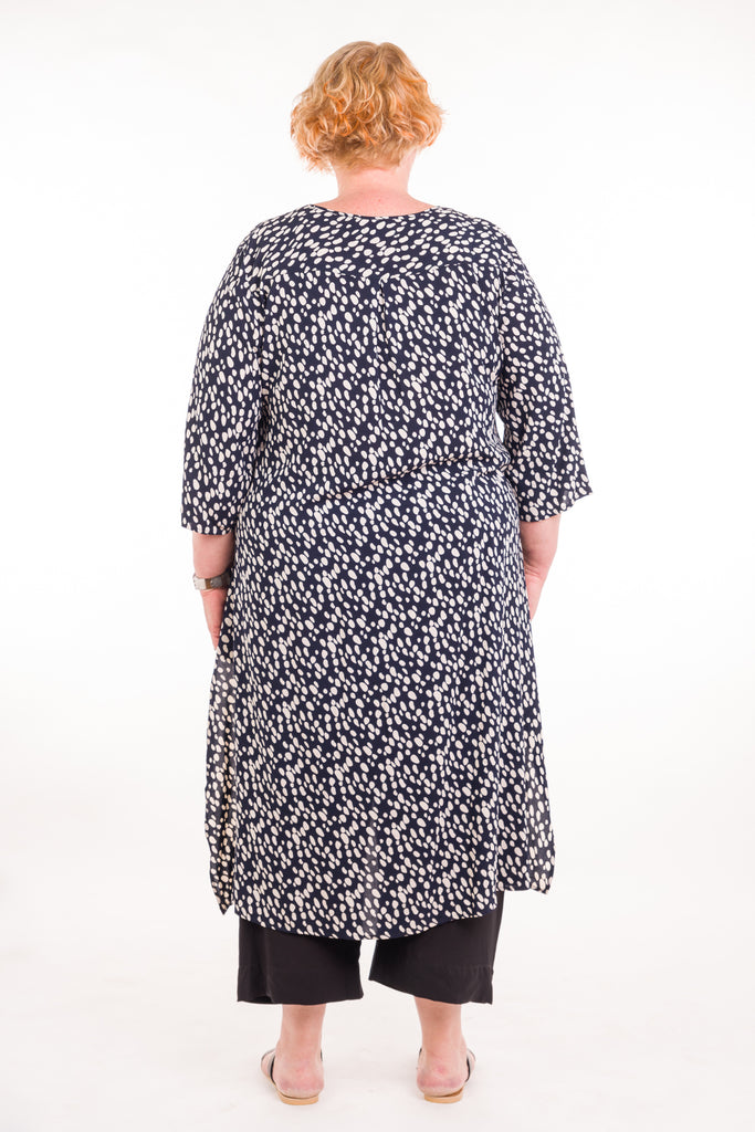 Swish Tunic in Rayon Black