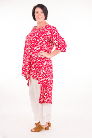 Swish Tunic in Rayon Red