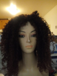12 inch Synthetic 4B/30 kinky Curly Wig