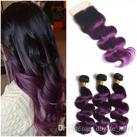 Purple deep wave Brazillian human sew in hair by Wonderfully Designed