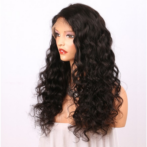 Brazilian virgin Human hair 360 lace frontal wig