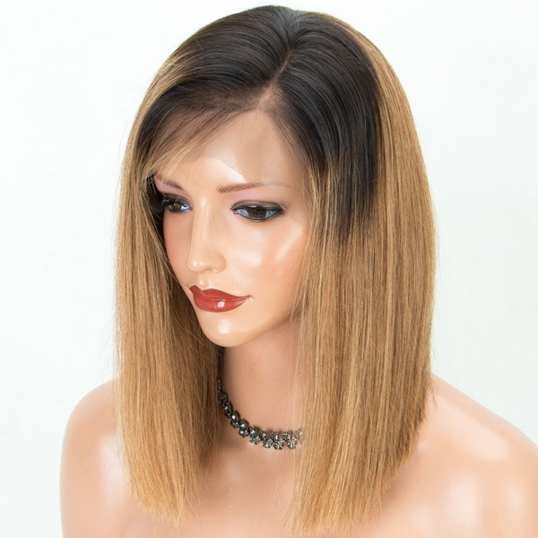 Gorgeous Color Blonde 360 Human Hair Bob lace  wig