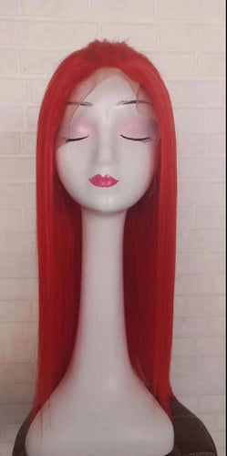 Brazilian Red Human Hair Blend Lace front Wig