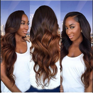 Ombre  4/30 BrazillianVirgin Body wave Human hair