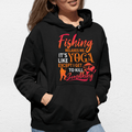 Fishing relaxes me UNISEX PULLOVER HOODIE - Ron Swanson - Parks and Recreation