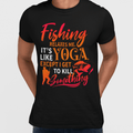 Fishing relaxes me MEN'S T-SHIRT - Ron Swanson - Parks and Recreation