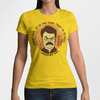 When I eat it is the food that is scared WOMEN'S T-SHIRT - Ron Swanson - Parks and Recreation