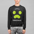 Ghostly Greetings Halloween UNISEX CREW NECK SWEATSHIRT
