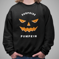 Surprise Pumpkin Halloween  UNISEX CREW NECK SWEATSHIRT