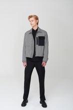 Load image into Gallery viewer, Men In Silhouette Pocket Detail Check Blouson