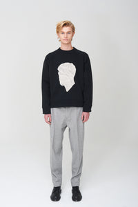 Men In Silhouette Oversized Cotton Sweatshirt