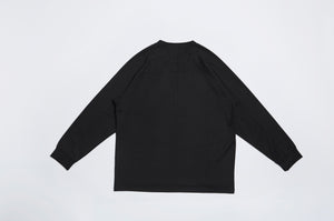 Men In Silhouette Oversized Low Edge Long-Sleeve Tee