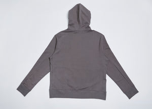 Men In Silhouette Oversized Cotton Hooded Sweatshirt