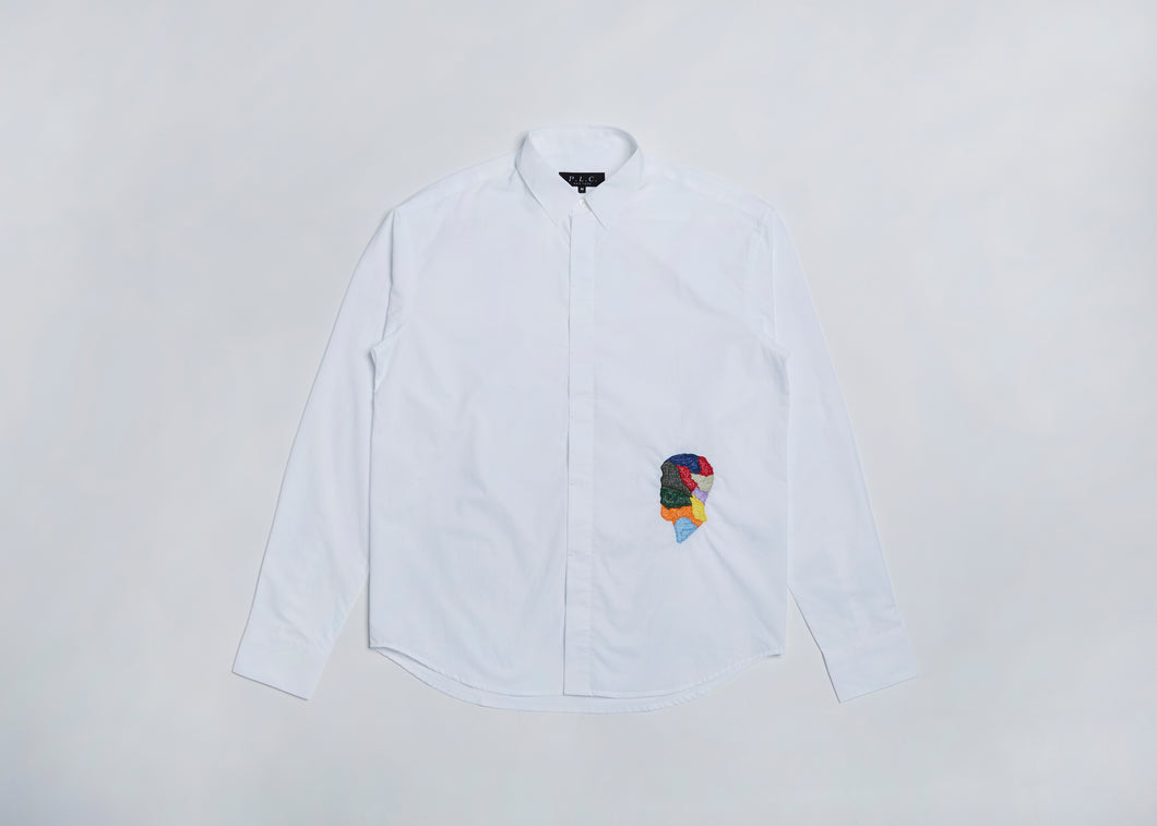 Men In Silhouette Embroidered Shirt