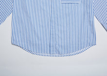 Load image into Gallery viewer, Men In Silhouette Stripe Cotton Shirt