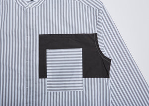 Men In Silhouette Stripe Cotton Shirt