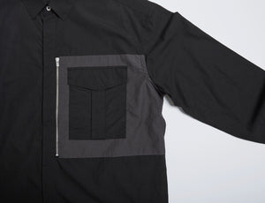 Men In Silhouette Zipper Pocket Shirt