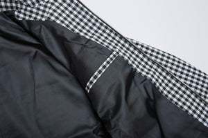 Men In Silhouette Pocket Detail Check Blouson