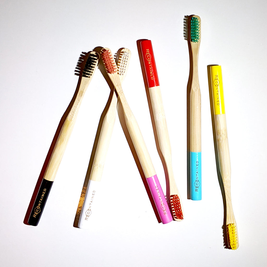 """Say It Like It Is"" Color Dipped Bamboo Toothbrush"