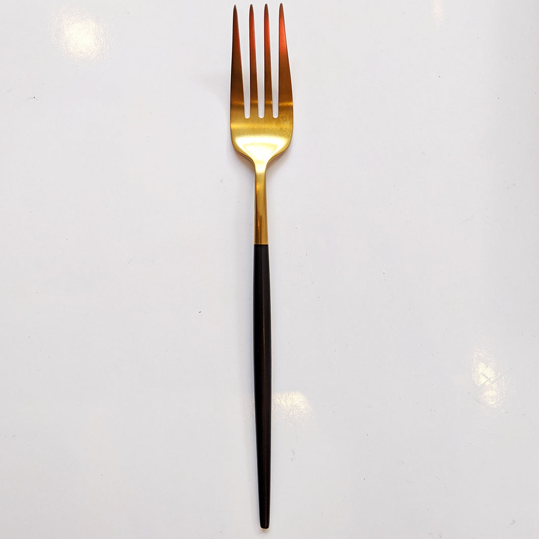 FLATWARE // GOLD WITH BLACK DIP