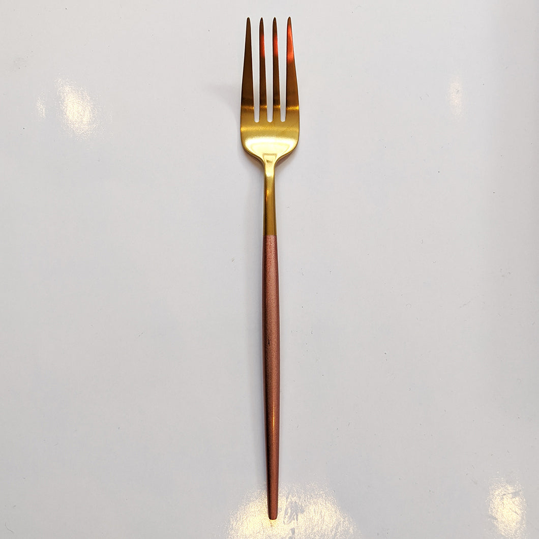 FLATWARE // GOLD WITH PINK DIP