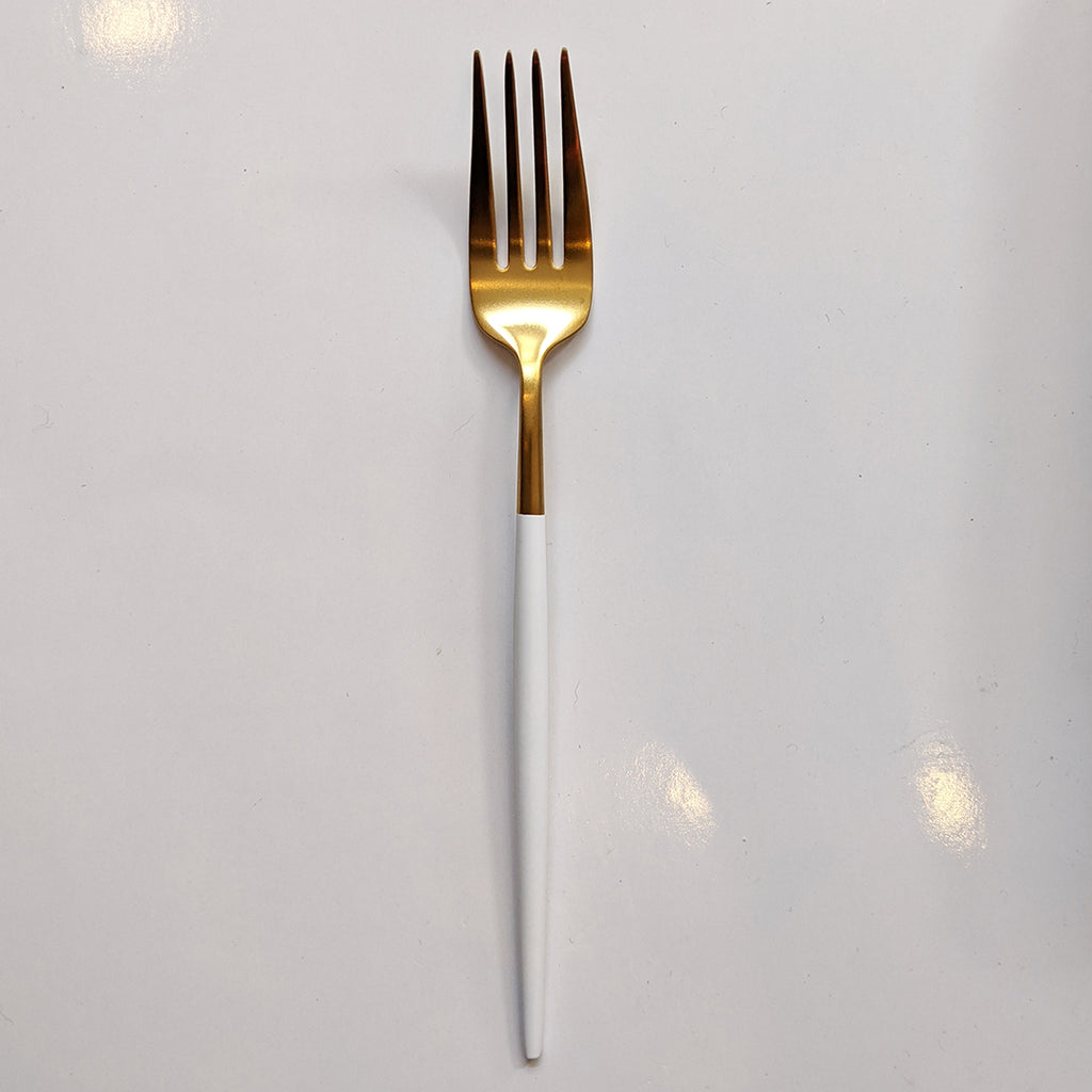 Flatware //  Gold with White Dip