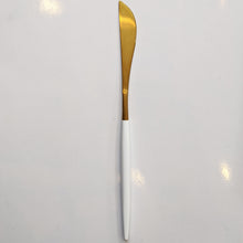 Load image into Gallery viewer, FLATWARE // GOLD WITH WHITE DIP