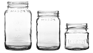 MASON JARS W/ METAL LIDS // 3 SIZES
