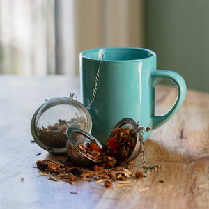 TEA INFUSER // SILVER BALL & CHAIN