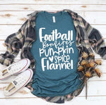 Football Bonfires Pumpkin Spice Flannel