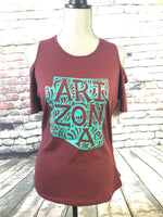 Arizona Cold Shoulder - Maroon
