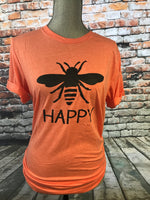 Bee Happy Orange Tri-Blend