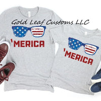 Merica Shirts in Youth and Adult