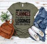 Bonfires Football Flannels Pumpkin Spice Leggings